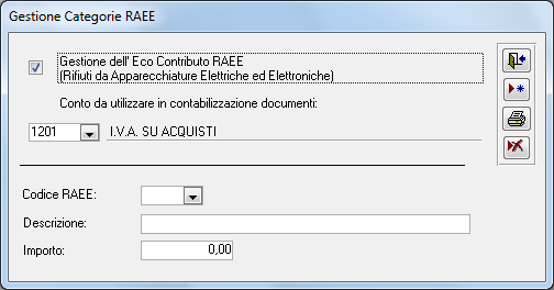 Gestione categorie raee manuali software gestionali for Contributo raee