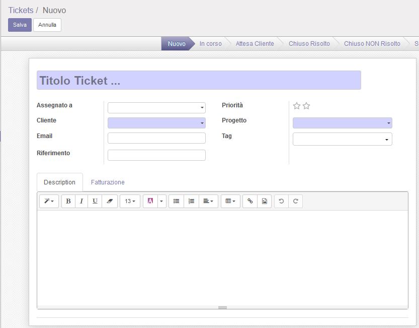 Gestione Ticket Web